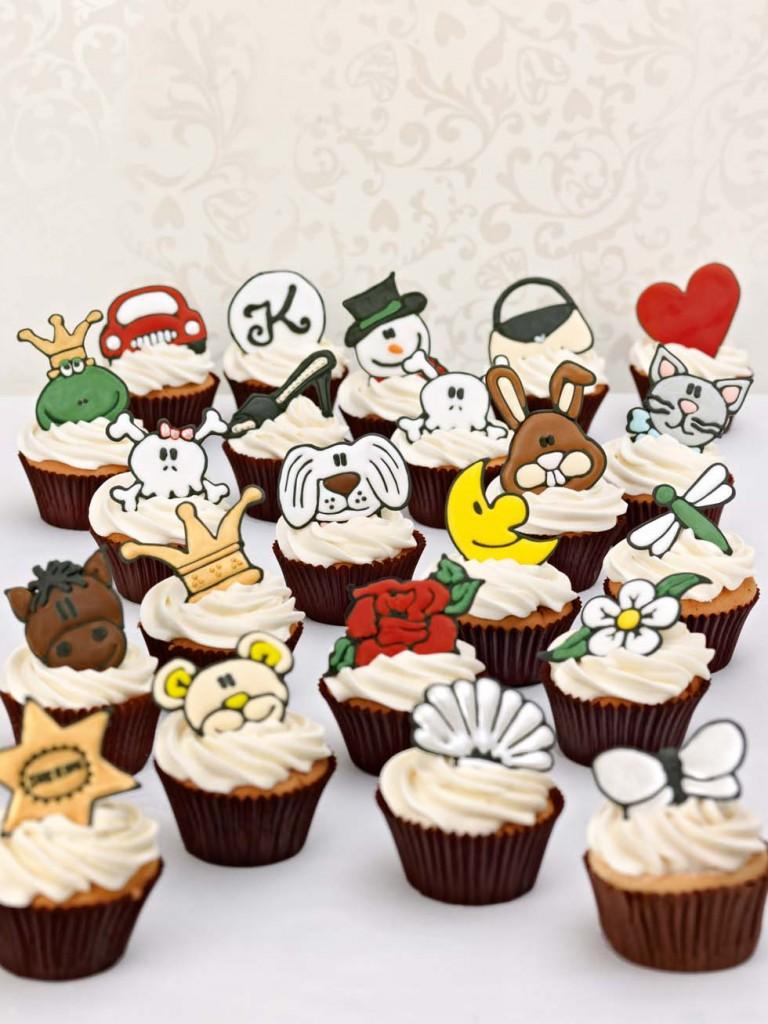Cupcakes mit Symbol