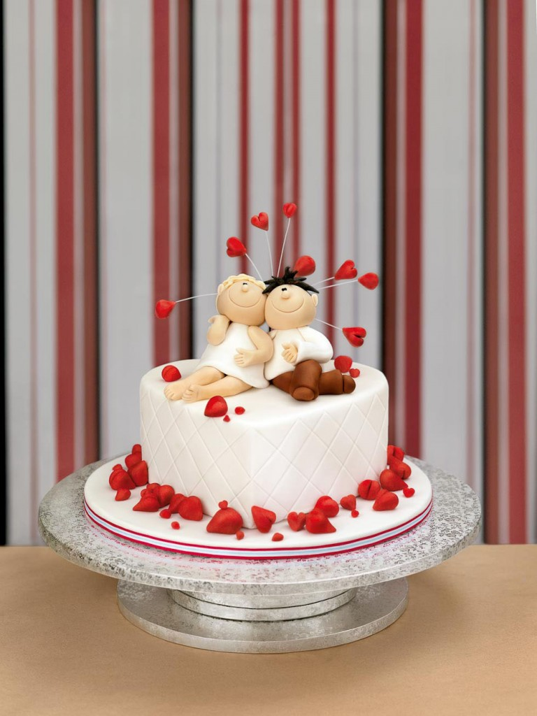 Torten mit Brautpaar